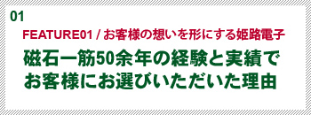 「FEATURE01 / お客様の想いを形にする姫路電子」磁石一筋50余年の経験と実績でお客様にお選びいただいた理由